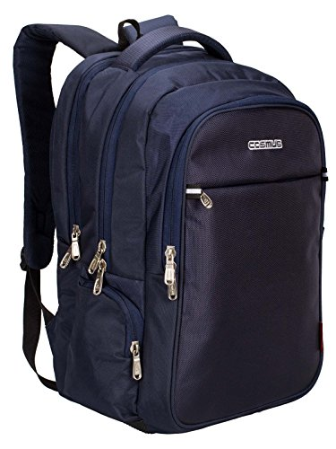 Cosmus Atomic Dx 3 Compartment Large Laptop Bag – Navy Blue Polyester Waterproof Laptop Backpack