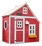 Garden Games Limited Crooked Mansion Playhouse Pre Painted Wooden Play House
