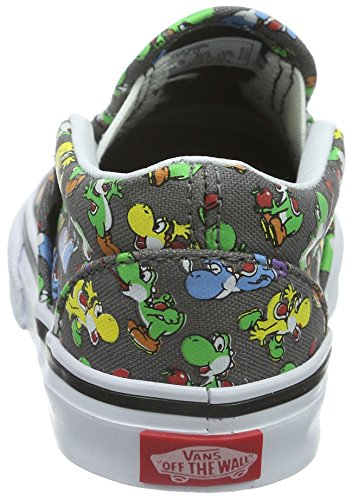 Vans Classic Slip-On, Chaussures Marche Mixte Bébé Gris ((Nintendo) Yoshi/pewter)