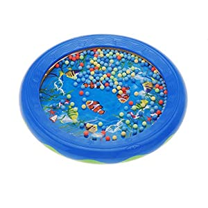 TOOGOO(R)Ocean Wave Bead Drum Gentle Sea Sound Musical Educational Toy Tool for Baby Kid Child from RICISUNG