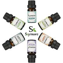 Skymore Olio essenziale Top 6Pcs, Regalo romantico, Umidificatori Aromaterapici naturali dell' --- Lavanda, arancia dolce, menta piperita, lemongrass, albero di tè, eucalipto.