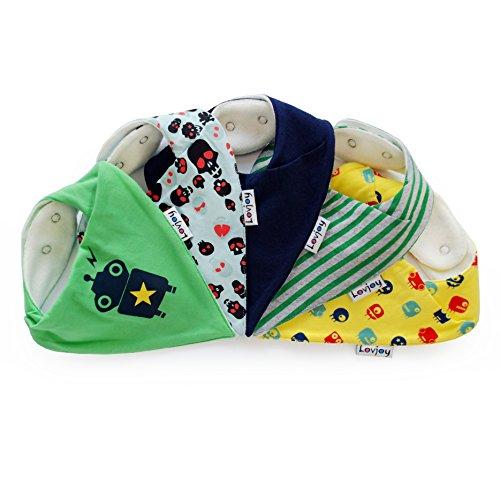 Lovjoy Bandana Baby Halstuch Lätzchen, Dreieckstucher, Für 0-3 Jahre, 5er Pack (Munchkins)  - Bandana-lätzchen Für Baby