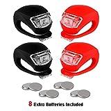 SLRR Vorder- und Rückseite Silikon LED, 4 Packs, hochfeste Mehrzweck-wasserdicht