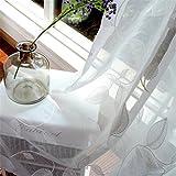 WERM® Cortinas de tul Cortinas cortinas blancas bordadas para el salón Cortinas de tul de estilo pastoral para la ventana del dormitorio por encargo 1 pedazo , 1.5x2.7