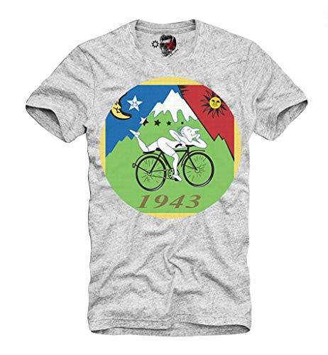 E1Syndicate T-Shirt Albert Hofmann LSD Blotter Art Trip Tune IN and Drop out Gris S-XL