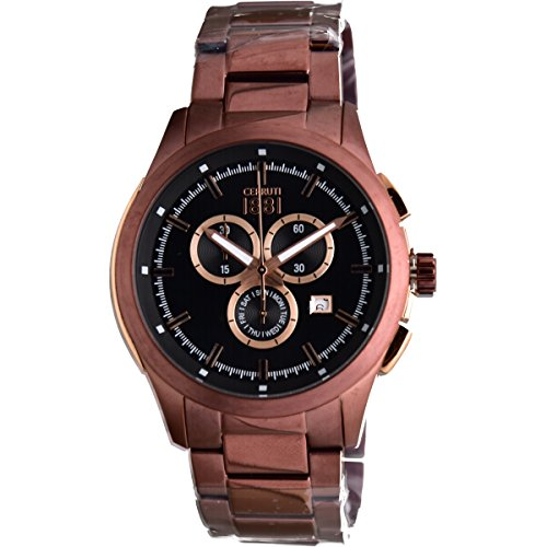 Cerruti Bracelet Homme Montre chronographe cra09 2 m221g Marron/Or Rose