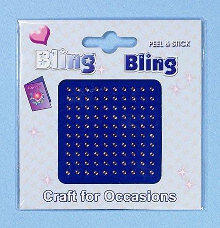 Craft für Anlässe, Bling Bling, Pale Pink, 2 mm Diamanten-Steinen, C0295PK selbstklebend, 100 Stück