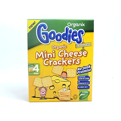Organix Goodies Organic Mini Cheese Crackers 4 x 20G Pack (Cracker Snack-packs)