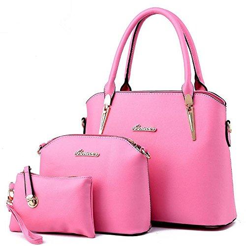 HQYSS Damen-handtaschen Europäische und amerikanische Atmosphäre Mode stereotypen weiblichen Schulter Messenger Tasche , pink (Tommy Hilfiger Tasche Pink)