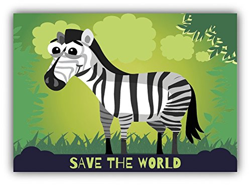 save-the-world-zebra-cartoon-animal-greenpeace-slogan-hochwertigen-auto-autoaufkleber-12-x-10-cm