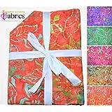 5 pezzi Tessuto per Artigianato 100/% cotone Batik Fat Quarter Bundles BS-FAH-FPJ0130// COL 1 Col 1.