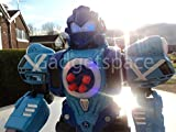 RADIO REMOTE CONTROL ROBOT ROBO DAD FIGHTING TALKING SHOOTER ROBOT FIRES BULLETS (Blue)