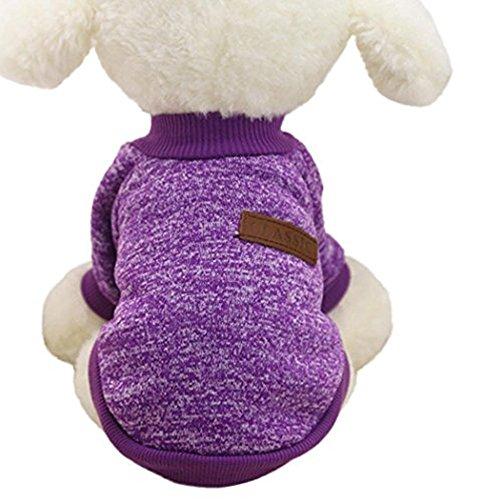 myfei Cute Herbst und Winter Warm Hund Kleidung, Soft Jumper Puppy Pet Jacke Coat Fashion Pullover...