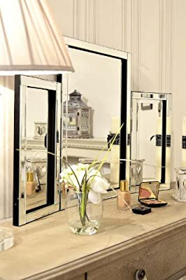 Modern Design Beautiful Glass Venetian Dressing Table Mirror 1ft10 x 2ft7 - inexpensive UK dressing table shop.