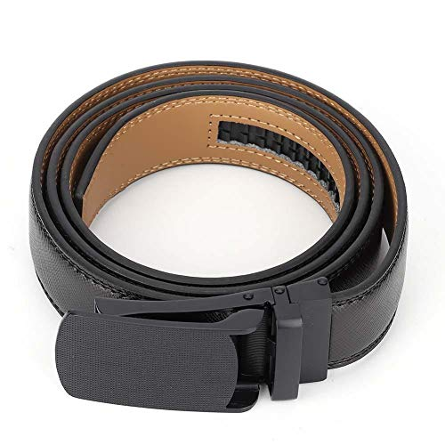 Boquite Bund Casual Ledergürtel mit verstellbarer automatischer Schnalle für Männer(Schwarz)