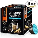 King Cup - zuckerfreier Ginseng-Kaffee - 4 Packungen x 10 mit Nescafè* Dolce Gusto®* kompatible Kapseln (40 Kapseln)