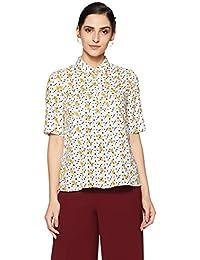 Van Heusen Women's Plain Regular Fit Modal Shirt