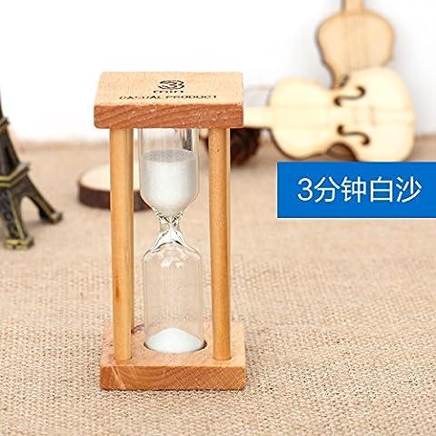 KXZZY Home decorazioni ornamenti ,3 minuti del timer di spazzolatura dono Square Mini sabbia bianca