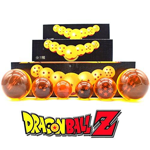 CYRAN Dragon Ball Z Crystal Ball Crystal Ball 7pcs 57MM 7 Estrellas Juguetes para Niños 7 Estrellas Dragon Ball