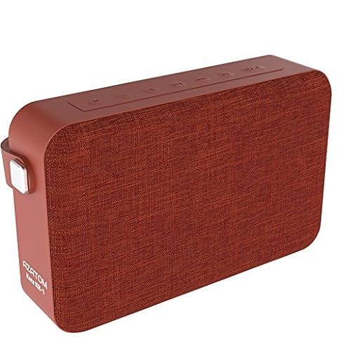 AZATOM Kara K1 Bluetooth speaker - Luxury cloth - Rechargeable - Handsfree calls - Bass woofer - 24 Watts - 20 Hours Playtime - British Designed - ORANGE