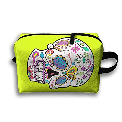 ouch Sugar Skull Floral Purse Organizer Cosmetic Stationery Holder ()