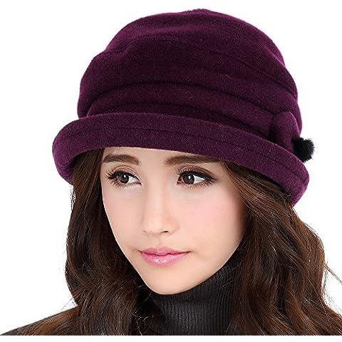 Elegante e di stile vittoriano donna autunno e inverno caldo inverno lana cappello cappelli moda (Cappelli Vittoriani Per Le Donne)