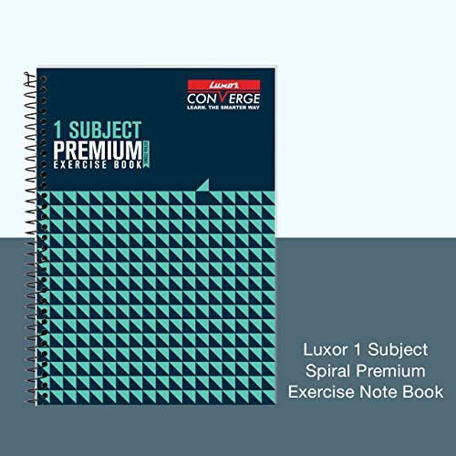 Luxor 1 Subject Spiral Premium Exercise Pocket book, Single Ruled - (18cm x 24cm), 180 Pages Image 2