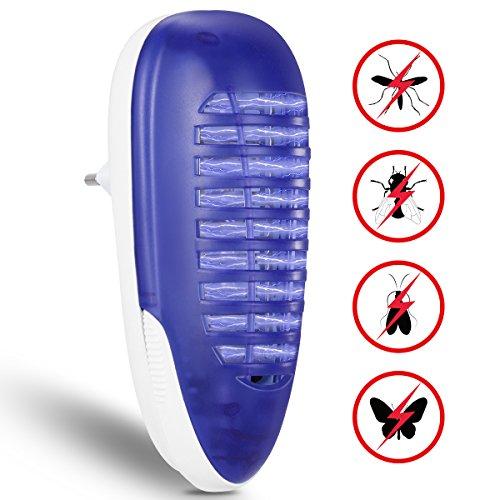 YUNLIGHTS Lámpara Antimosquitos, Eléctrico Mata Moscas, 4W Trampa para Mosquitos para los Hogares, Patios, Jardines, Oficinas, Tiendas