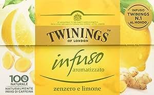 Twinings - Infusi Aromatizzati al Limone e Zenzero - Special Edition (20 Bustine)
