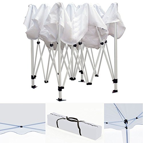 IDMarket - Chapiteau pliable blanc 3x3m + 3 murs tente de...