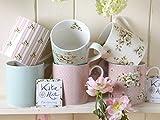 Katie Alice Tassen-Set, feines Porzellan, Tassen, Motive: Streifen/Punkte/Blumen, mehrfarbig, 6-teiliges Set