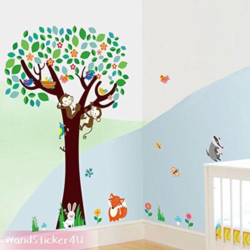 wandsticker4u-vinilos-decorativos-colorido-mundial-de-los-animales-en-el-serra-tatuaggi-per-parete-f