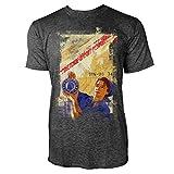 Sinus Art® Woman at Work Herren T-Shirts Stilvolles Dunkelgraues Cooles Fun Shirt mit Tollen Aufdruck