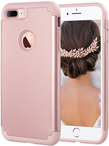 iPhone 7 Plus Hülle, ULAK Slim Fit Schutzhülle Elastisch Ultimative Schutz Handyhülle Zubehör Für iPhone 7 Plus Case, iPhone 7 Plus Cover 5,5 Zoll - 2016 (Roségold) Roségold