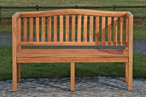 CLP wetterfeste Teak Gartenbank MARVEL V2 aus massivem Teakholz (bis zu 4 Größen wählbar) 180 cm - 2