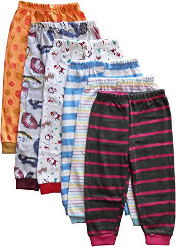 NammaBaby Cotton Pants for Infants (Blue,12-18 months) - Set of 6