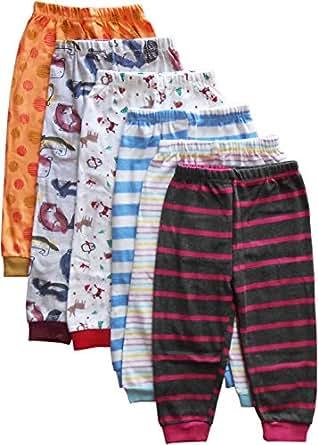 NammaBaby Unisex Cotton Pyjama (Blue, 0 to 3 Months) - Set of 6