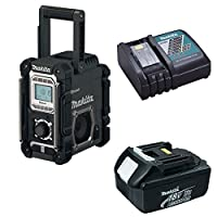 Makita DMR106B Bluetooth Jobsite Radio USB Charging Port 3Ah Battery & Charger