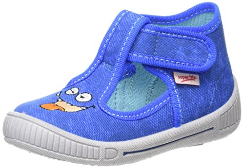 Superfit Bully, Chaussons montants garçon Bleu (bluet 84)