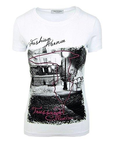 Trussardi w1 abetone, donna, weiß (t-shirt m/m g/c bianco/white), xl