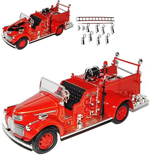 GMC Fire Truck 1941 Rot Feuerwehr Signature 1/24 Yatming Modell Auto (Gmc Spielzeug Auto)