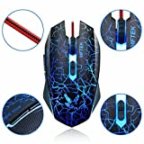 #3: Gaming Mouse Wired [2000 DPI] [Programmable] [Breathing Light] Ergonomic Game Computer Mouse With 7 Buttons For PC,Gamer
