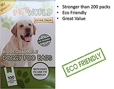 1000 x Doggy Dog Poo Bags Biodegradable BIO Pet STRONG Bag Dog Cat Poo Waste Toilet Poop