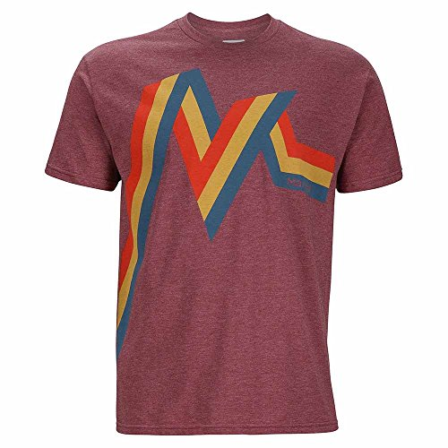 marmot-chroma-short-sleeve-camiseta-hombre-burgundy-heather-large