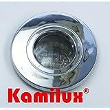 10 x LED Feuchtraumstrahler/Spot Aqua IP65 230V in chrom inklusive 15er LED Leuchtmittel - LED weiss Hochvolt