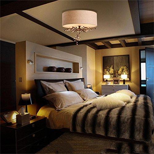 plafoniere decorative Cristallo di ferro continentale fiori di stoffa pastorale americani e romantica camera da letto matrimoniale del salotto soffitto semplicità elegante