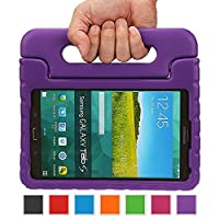NEWSTYLE Samsung Galaxy Tab S 8.4 Shockproof Case Light Weight Kids Case Super Protection Cover Handle Stand Case for Kids Children For Samsung Galaxy Tab S 8.4-inch SM-T700 SM-T705 - Purple Color