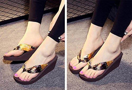 pengweiShapes Slippers Damen Sandalen dicker Boden Hang mit Strand Schuhe 6