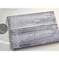 Gästebuch DIN A5 Hochzeit Holzlo