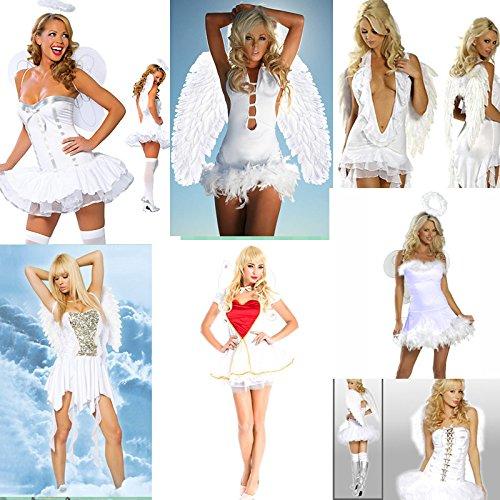 DLucc Halloween- Kostüm-Partei weiße weibliche Engel mit Flügeln Elf Dress , # 3